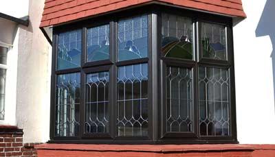 uPVC bay window in black