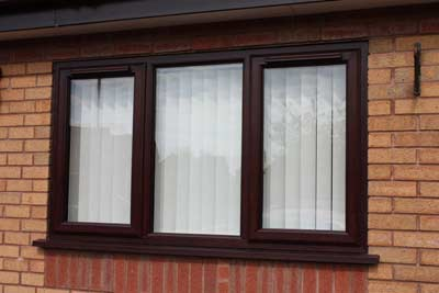 Brown coloured uPVC windows