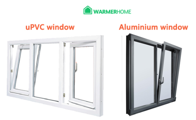 What are the similarities and differences between uPVC and aluminium?