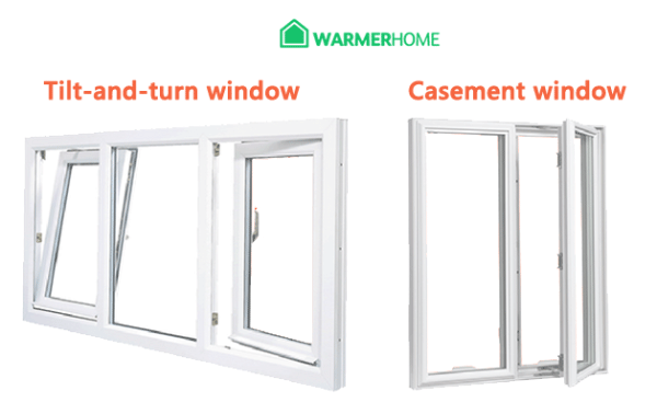 uPVC Tilt and turn vs casement windows