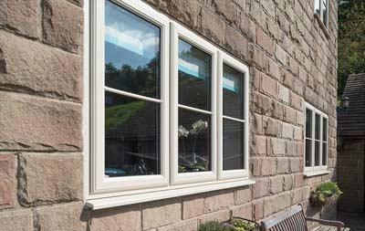 Cream coloured uPVC windows
