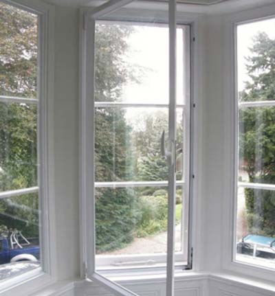 What is hinged secondary glazing?