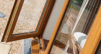 Oak brown uPVC windows