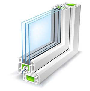 Triple pane glazing for thermal insulation