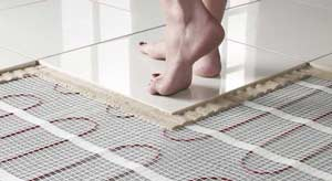 Underfloor heating as additional or main heat source