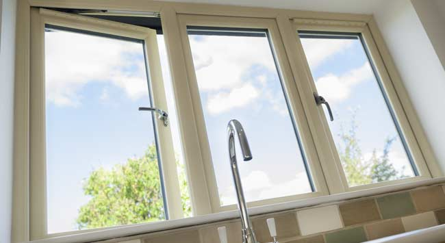Wood effect uPVC windows